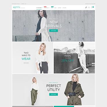 Fashion Clothes Store Magento Theme #53638