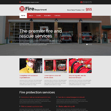 Fire Department Responsive Website Template