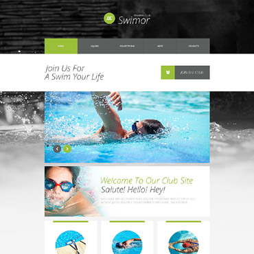 Swimming Responsive Website Template