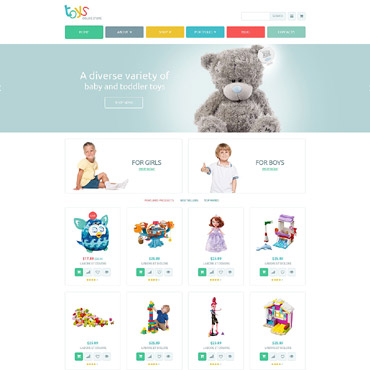 Toy Store Responsive WooCommerce Theme