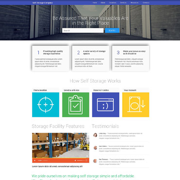 Storage Facilities Website Template #53690
