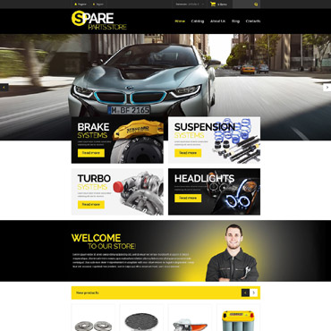 Auto Parts Responsive VirtueMart Template