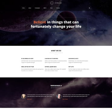 Astrology Responsive Joomla Template