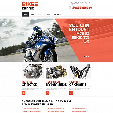 Bike Shop Responsive Moto CMS 3 Template