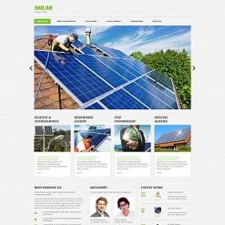 Solar Energy Responsive Moto CMS 3 Template