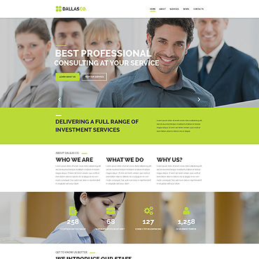 Business Center Website Template #53750