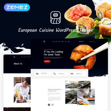 European Cuisine WordPress Theme #53766