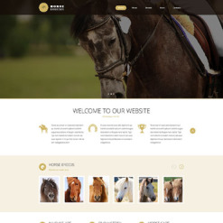 Horse Responsive Website Template