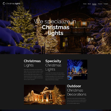 Christmas Responsive Website Template