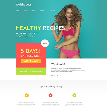 Weight Loss Muse Template