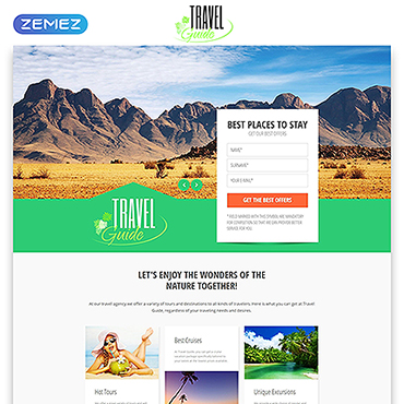 Travel Agency Responsive Landing Page Template