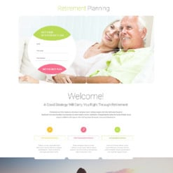 Retirement Planning Responsive Landing Page Template