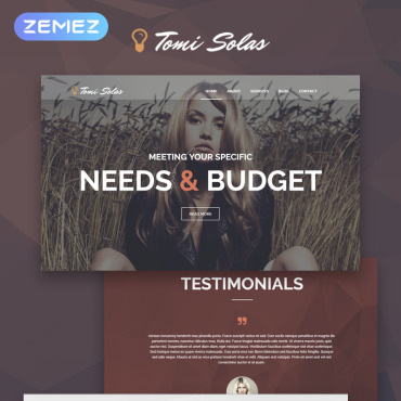 Tomi Solas WordPress Theme #53878