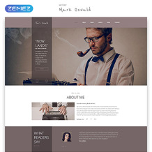 Writer/Author Responsive Website Template