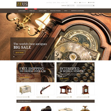 Antique Store Responsive ZenCart Template