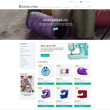 Crafts Responsive ZenCart Template