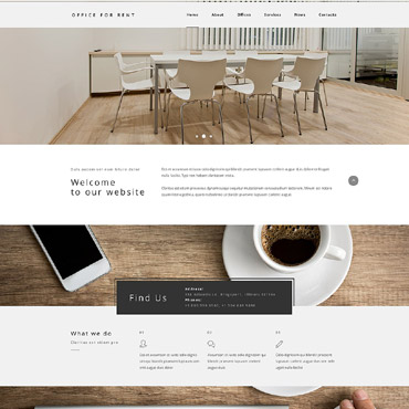 Office for Rent Website Template #54018