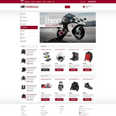 Bike Shop Responsive ZenCart Template