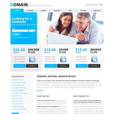 Domain Registrar PSD Template