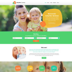 Babysitter Responsive Website Template