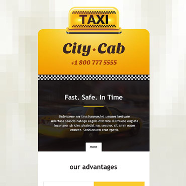 Taxi Responsive Newsletter Template