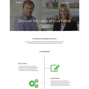 Real Estate Agency Responsive Landing Page Template