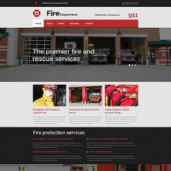 Fire Department Responsive Moto CMS 3 Template