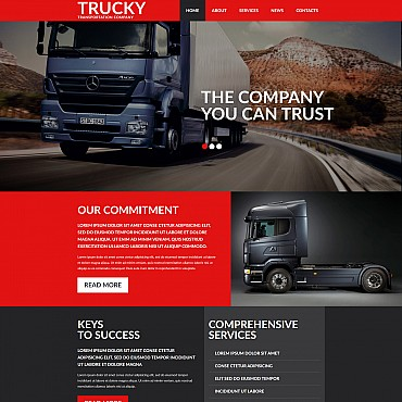 Trucking Responsive Moto CMS 3 Template
