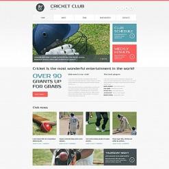 Cricket Responsive Moto CMS 3 Template