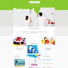 Painting Company Responsive Moto CMS 3 Template