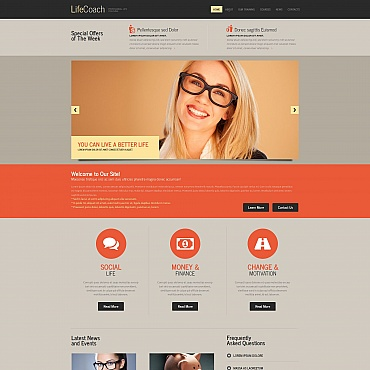Life Coach Moto CMS HTML Template