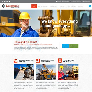 Mining Company Website Template #54698