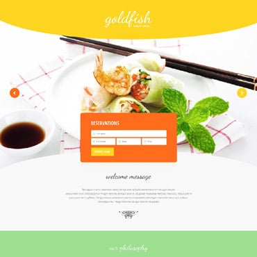 Seafood Restaurant Responsive Landing Page Template