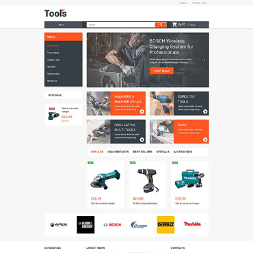 Tools & Equipment Responsive PrestaShop Theme