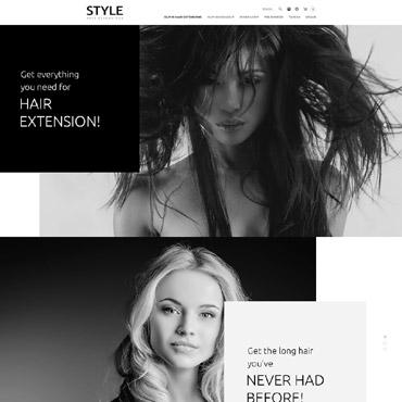 Hair Salon Responsive OpenCart Template