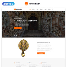 Hinduism Responsive Website Template