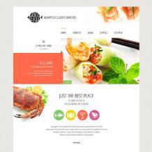 Seafood Restaurant Responsive Website Template
