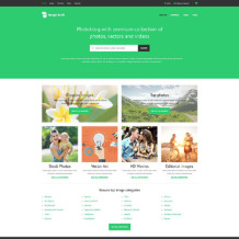 Stock Photo Responsive Website Template