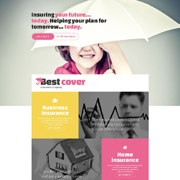 Insurance Responsive Landing Page Template
