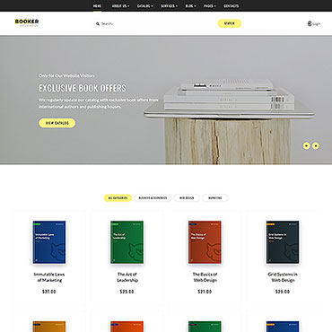 Books Responsive Website Template #54834