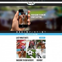 Online Betting Responsive Moto CMS 3 Template