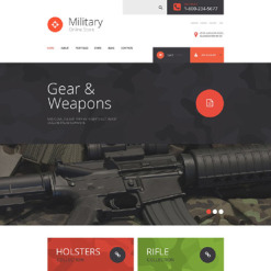 Military Responsive WooCommerce Theme