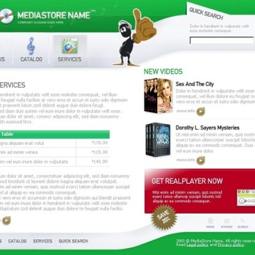 Media Website Template