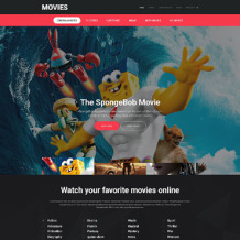 Movie Responsive Website Template