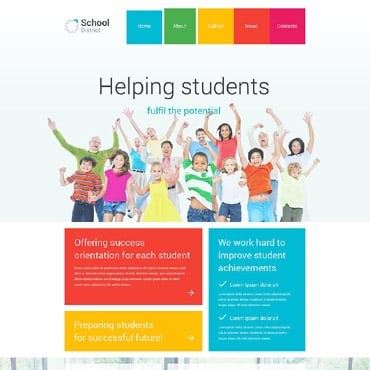 School District WordPress Theme #55026