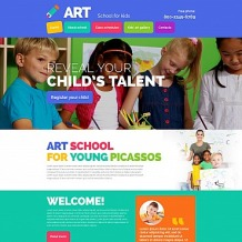 Education Responsive Moto CMS 3 Template