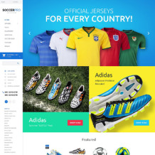 Soccer Responsive OpenCart Template