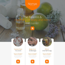 Spa Accessories Responsive Landing Page Template