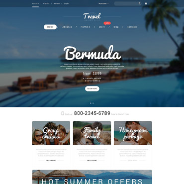 Vacation Agency WooCommerce Theme #55230