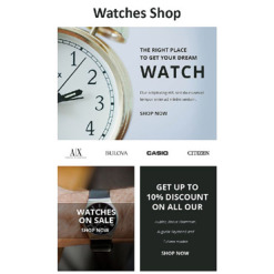 Watches Responsive Newsletter Template